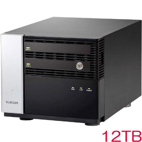 エレコム KTC-7MS12T2CW6 [キッティング/設定/WSS2016 Wg NAS/2Bay/12TB]