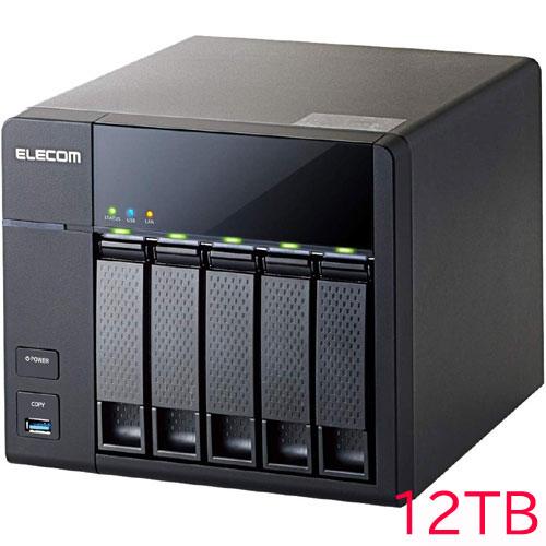 エレコム KTG-7A12T5BL [キッティング/10GbE/LinuxNAS/5Bay4D版/12TB]
