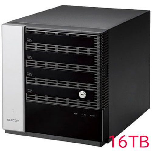 エレコム KTC-75S16T4DS6 [キッティング/設定/WSS2016 Std NAS/4Bay/16TB]
