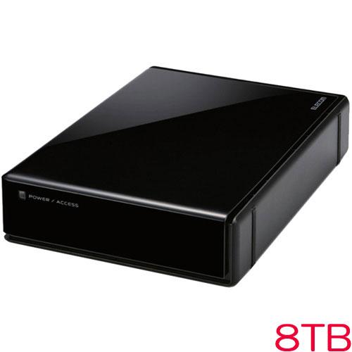エレコム ELD-EEN080UBK [USB3.0外付HDD/HW暗号化/PW保護/8TB/ブラック]