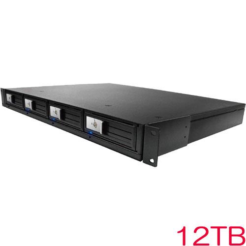 エレコム ELD-1UDB120UBK [ラックマウント型HDD/USB3.0/RAID非対応/12TB]