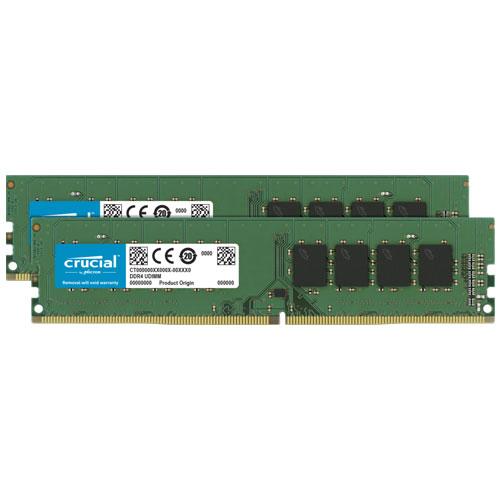 クルーシャル CT2K16G4DFS832A [32GB Kit (16GBx2) DDR4 3200 MT/s (PC4-25600) CL22 SR x8 Unbuffered DIMM 288pin]