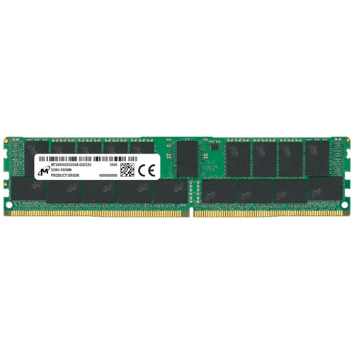 Micron MTA36ASF8G72PZ-2G9E1 [64GB DDR4-2933 (PC4-23400) ECC RDIMM 2R x4 CL21 1.2V 288pin]