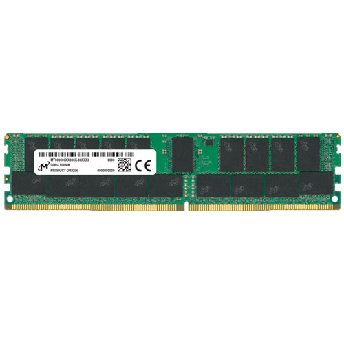 Micron MTA18ASF4G72PDZ-3G2E1 [32GB DDR4-3200 (PC4-25600) ECC RDIMM 2R x8 CL22 1.2V 288pin]