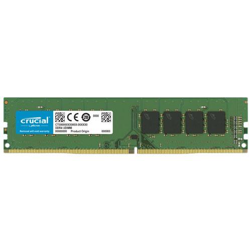 クルーシャル CT16G4DFS832A [16GB DDR4 3200 MT/s (PC4-25600) CL22 1R x8 Unbuffered DIMM 288pin]