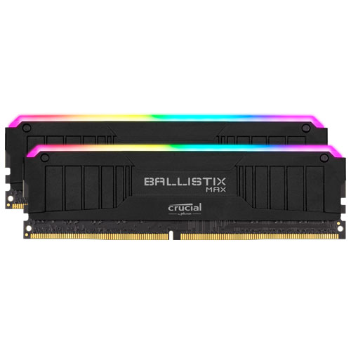クルーシャル BLM2K16G44C19U4BL [Ballistix MAX RGB 32GB Kit (16GBx2) DDR4-4400 (PC4-35200) CL19 UDIMM 288pin BK]