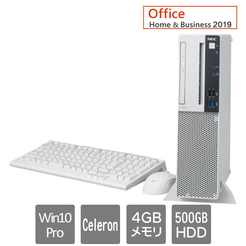 PC-MRE32LZ7ABS6 [Mate ML(CeleronG4930 4GB 500GB マルチ H&B2019 W10Pro)]