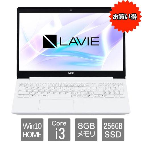 NEC ★限定特価★PC-SN212JFDF-C [LAVIE Smart NS(Core i3/8GB/256GB/DSM/15.6/W10H64/WH)]