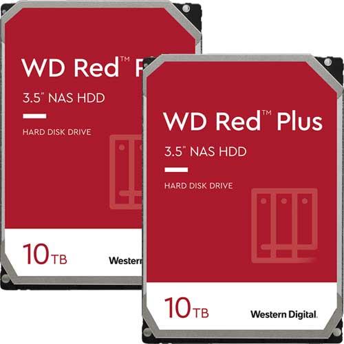 ウエスタンデジタル ★お得な2台セット★WD101EFBX [WD Red Plus(10TB 3.5インチ SATA 6G 7200rpm 256MB CMR)]