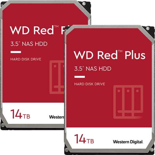 ウエスタンデジタル ★お得な2台セット★WD140EFGX [WD Red Plus(14TB 3.5インチ SATA 6G 7200rpm 512MB CMR)]