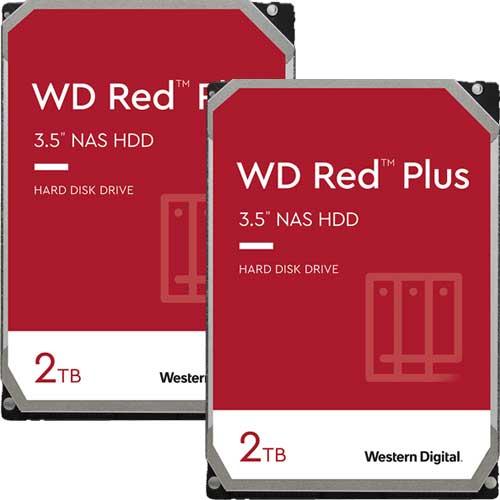 ウエスタンデジタル ★お得な2台セット★WD20EFZX [WD Red Plus(2TB 3.5インチ SATA 6G 5400rpm 128MB CMR)]