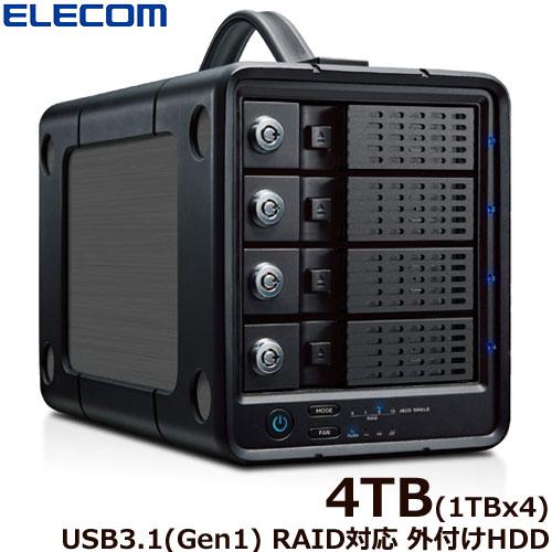 エレコム ELD-4B040UBK [外付けHDD/4Bay/RAID/4TB]