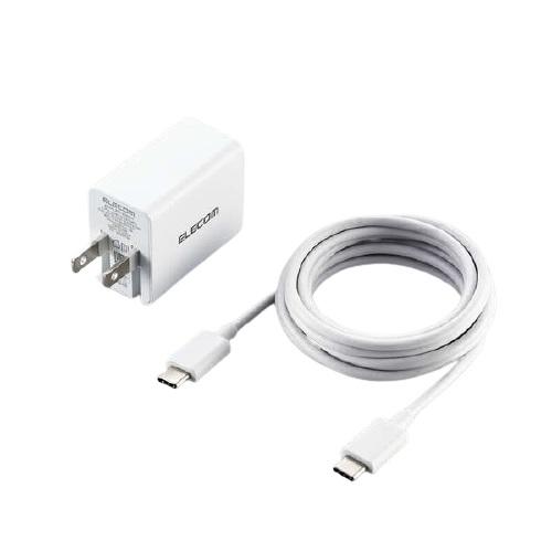 エレコム ACDC-PD1530WH [ノートPC向けACアダプター/GaN/C-Cケーブル付/ホワイト]