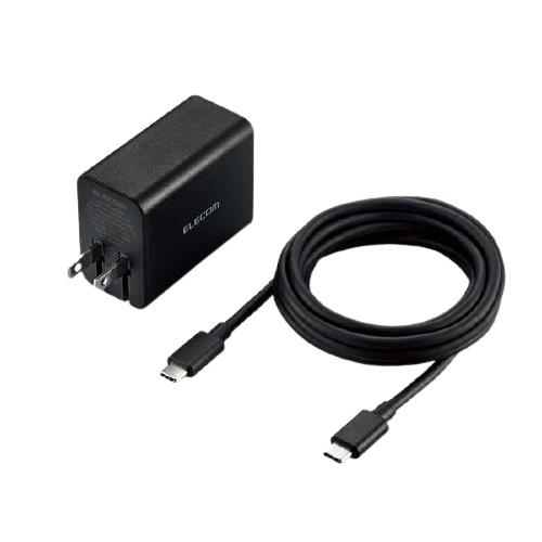 エレコム ACDC-PD1265BK [ノートPC向けACアダプター/GaN/C-Cケーブル付/ブラック]
