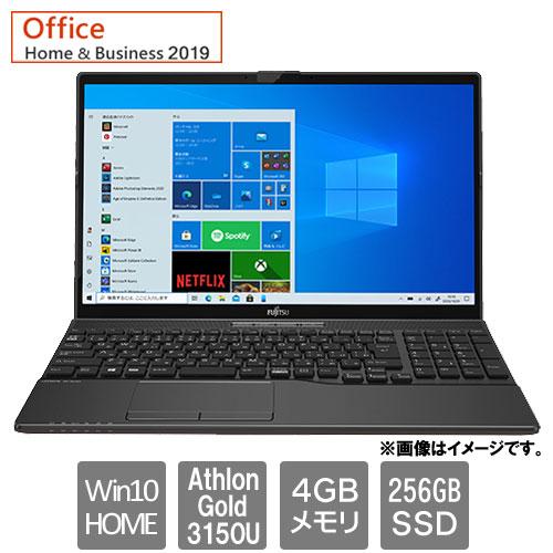 富士通 FMVA42F1B [LIFEBOOK AH42/F1(Athlon Gold 3150U 4GB SSD256GB Win10Home 15.6 H&B2019 ブライトブラック)]