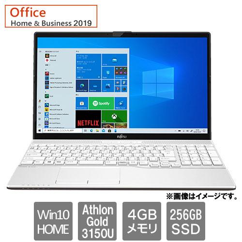 富士通 FMVA42F1W [LIFEBOOK AH42/F1(AthlonGold3150U 4GB SSD256GB Win10Home 15.6 H&B2019 プレミアムホワイト)]