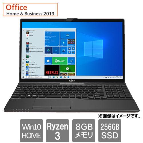 富士通 FMVA43F1B [LIFEBOOK AH43/F1 (Ryzen 3 8GB SSD256GB Win10Home64 15.6 H&B2019 ブライトブラック)]