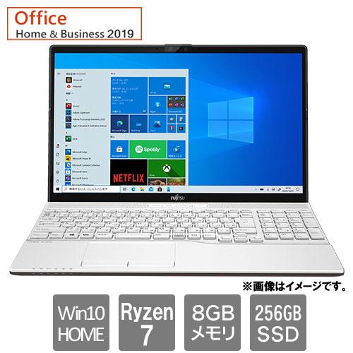 富士通 FMVA50F1W [LIFEBOOK AH50/F1 (Ryzen 7 8GB SSD256GB Win10Home64 15.6 H&B2019 プレミアムホワイト)]