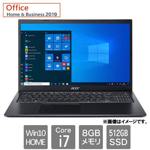 エイサー Aspire 5 [A515-56-H78Y/KF (Core i7 8GB SSD512GB 15.6FHD Win10Home64 H&B2019 ブラック)]