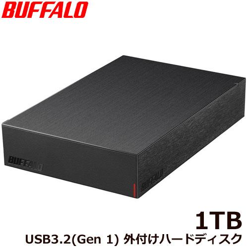 HD-LE1U3-BB [USB3.2(Gen.1)対応外付けHDD 1TB ブラック]