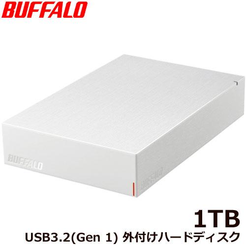 HD-LE1U3-WB [USB3.2(Gen.1)対応外付けHDD 1TB ホワイト]