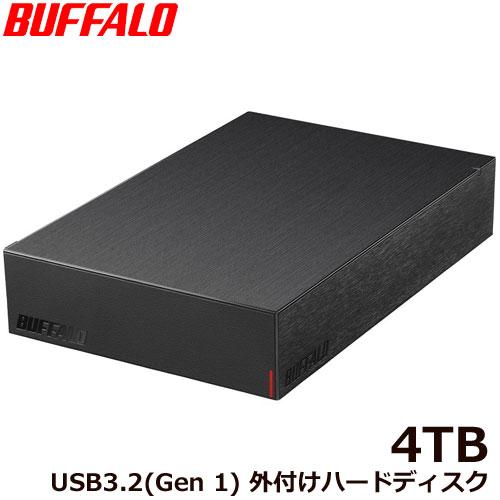 HD-LE4U3-BB [USB3.2(Gen.1)対応外付けHDD 4TB ブラック]