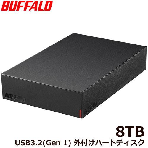 HD-LE8U3-BB [USB3.2(Gen.1)対応外付けHDD 8TB ブラック]