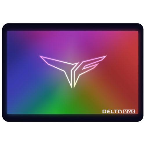 Team T253TM500G3C302 [500GB DELTA MAX RGB SSD 2.5インチ 9.5mm SATA III 3D NAND 400TBW ARGB LED 3年保証]