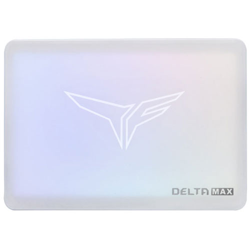 Team T253TM001T3C402 [1TB DELTA MAX WHITE RGB SSD 2.5インチ 9.5mm SATA III 3D NAND 800TBW 3年保証]