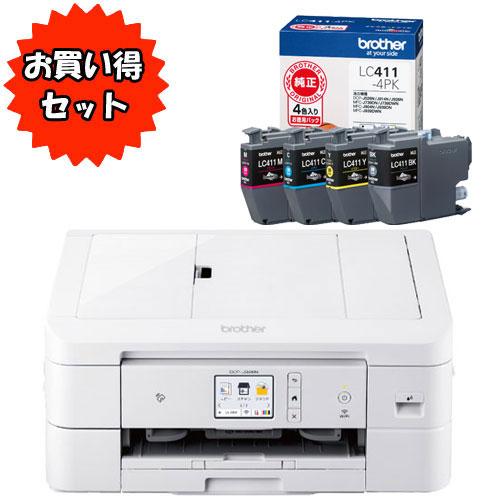 ★お買い得なインクセット★DCP-J926N-W [A4インクジェット複合機] & LC411-4PK