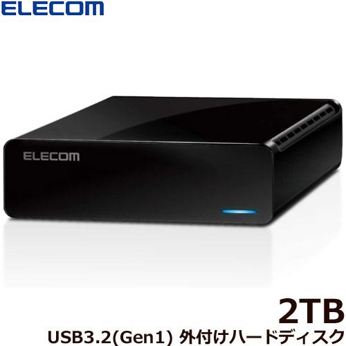 エレコム ELD-FTV020UBK [ELECOM Desktop Drive USB3.2(Gen1) 外付けハードディスク 2.0TB Black]