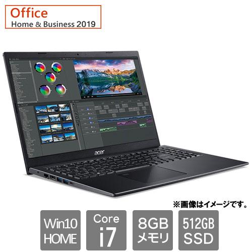 エイサー Aspire 5 [A515-56-A78Y/KF (Core i7 8GB SSD512GB 15.6FHD Win10Home64 H&B2019 チャコールブラック)]