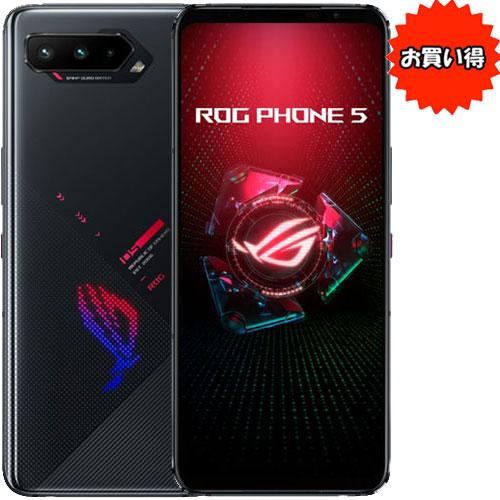 ★限定特価★ZS673KS-BK256R16 [ASUS ROG Phone 5 (Snapdragon888_5G Android11 6.78 16GB 256GB BK)]