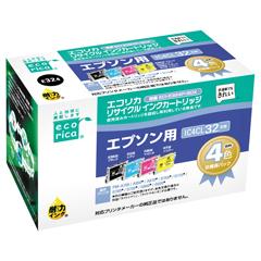 エレコム ECI-E324P/BOX [エコリカ リサイクルインク EPSON IC4CL32 4個パック(BK・Y・M・C)]