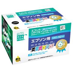 エレコム ECI-E326P/BOX [エコリカ リサイクルインク EPSON IC6CL32 6個パック(BK・Y・M・C・LM・LC)]