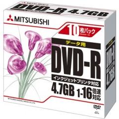 DHR47JPP10 [DVD-R 4.7GB 1-16倍速 10P IJ対応(ホワイト)]
