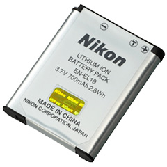 ニコン Li-ionリチャージャブルバッテリーEN-EL19