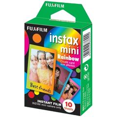 富士フイルム INSTAX MINI RAINBOW WW1 [チェキ用カラーフィルム instax mini RAINBOW  1パック品(10枚入)]
