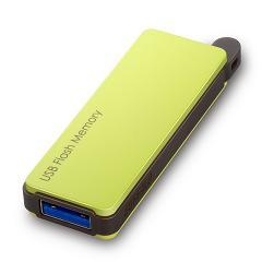 RUF3-PW32G-GR [オートリターン機能搭載 USB3.0対応 USBメモリー 32GB グリーン]