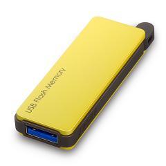 RUF3-PW32G-YE [オートリターン機能搭載 USB3.0対応 USBメモリー 32GB イエロー]
