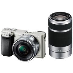 ソニー(SONY) ILCE-6000Y/S [デジタル一眼カメラ α6000 ダブルズームレンズキット シルバー]
