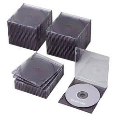 CCD-JSCS50CBK [BD/DVD/CDスリムケース/1枚収納/50パック/クリアブラック]