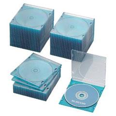 CCD-JSCS50CBU [BD/DVD/CDスリムケース/1枚収納/50パック/クリアブルー]