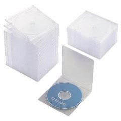 エレコム CCD-JSCS50CR [BD/DVD/CDスリムケース/1枚収納/50パック/クリア]
