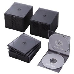 CCD-JSCSW50CBK [BD/DVD/CDスリムケース/2枚収納/50パック/クリアブラック]