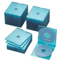 CCD-JSCSW50CBU [BD/DVD/CDスリムケース/2枚収納/50パック/クリアブルー]