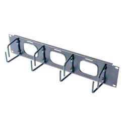 APC AR8428 [2U Horizontal Cable Organizer w/ Pass-Thru Black]