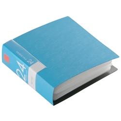 BSCD01F24BL [BUFFALO CD&DVDファイルケース ブックタイプ 24枚収納 ブルー]