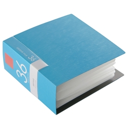 BSCD01F36BL [BUFFALO CD&DVDファイルケース ブックタイプ 36枚収納 ブルー]