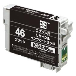 エレコム ECI-E46B [エコリカ リサイクルインク/エプソン/ICBK46対応]